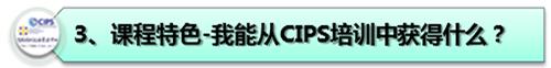 3、课程特色-我能从CIPS培训中获得什么?
